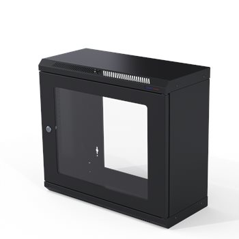 Penn Elcom Wall Mount Rack Enclosure 9U 250mm/9.84 Inch Deep M6 Rack Rail R6025-M6-9U  - Click to view a larger image