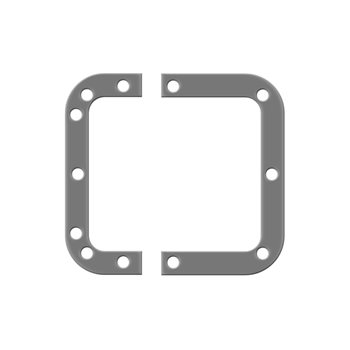Penn Elcom Backplate for Medium Recessed Latches L0906  - 点击查看大图