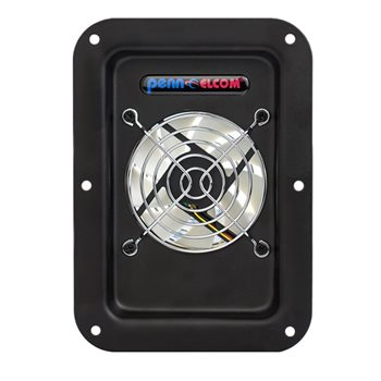 "Penn Elcom CoolRaC Flight Case Exhaust Fan 80mm / 3"" FT80-Q-FC  - Click to view a larger image"