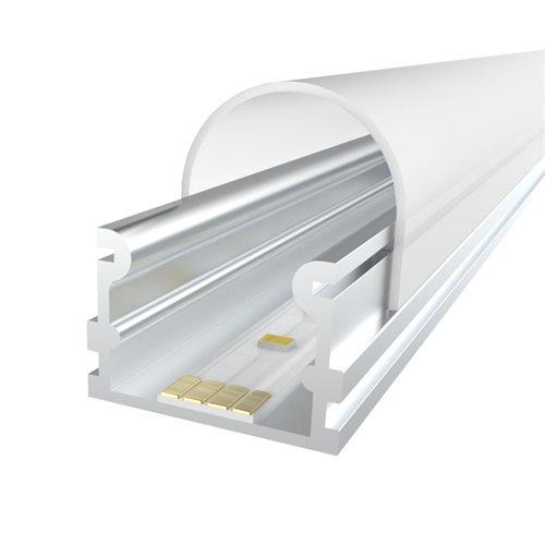Penn Elcom 2M LEDAL29 KIT 16.8mm Aluminium Profile Track for LED Flex  - Click to view a larger image