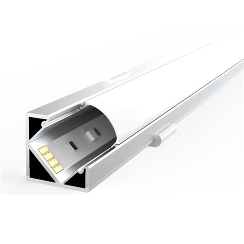 Penn Elcom 1m Kit 18.1mm wide Corner Profile LEDAL37  - Click to view a larger image