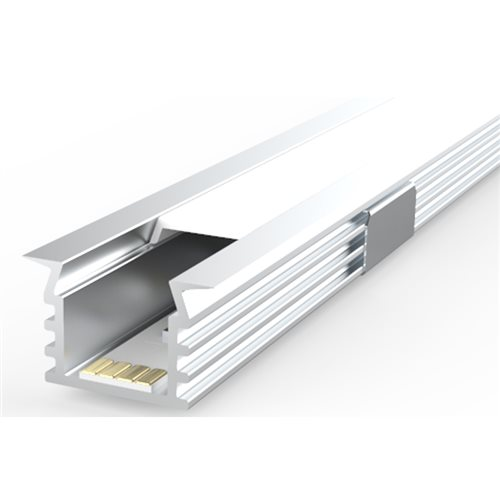 Penn Elcom 2m Kit 16mm wide Recessed Fluted Profile LEDAL39M2  - Click to view a larger image