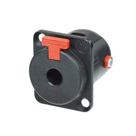 Neutrik Jack Socket Mono/Stereo Cable Black Gold Contacts NJ3FP6C-B