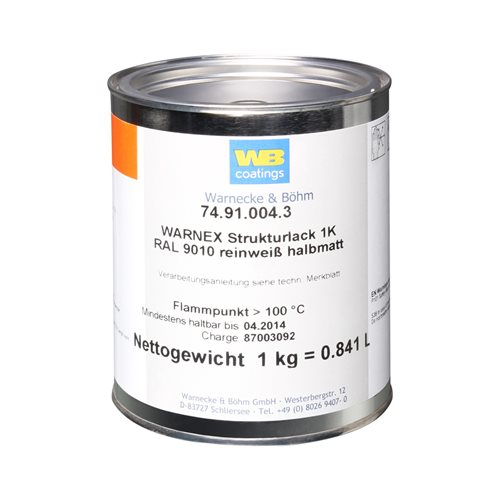 Warnex Cabinet Paint White 1KG MG-9714-9010  - Click to view a larger image