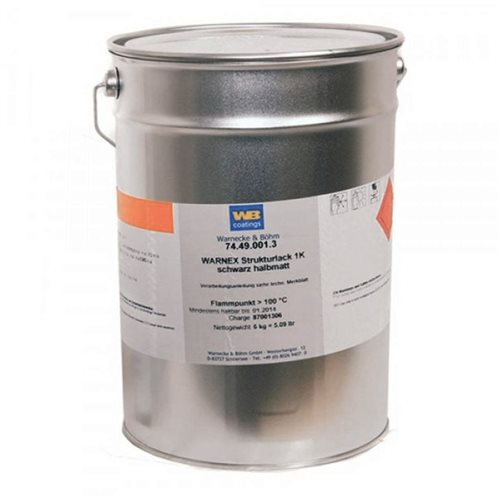 Warnex Cabinet Paint Black 6KG MG-9715S  - Click to view a larger image