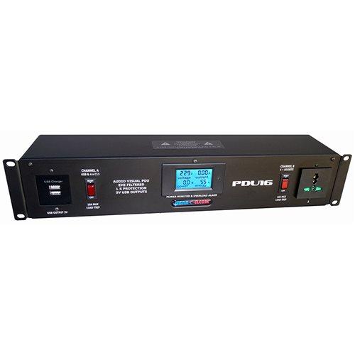 Penn Elcom 20A Rack Mount PDU Universal Sockets PDU16-AV  - Click to view a larger image