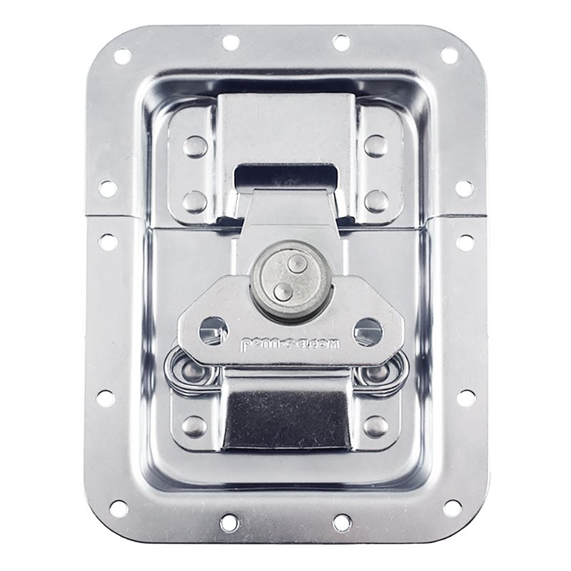 "Penn Elcom Large MOL™ Recessed Butterfly Latch in Deep Plain Dish. From Split to Hole Centre: 10mm / 3/8"" L944/530MOL"