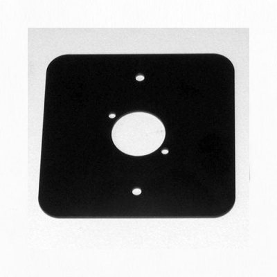 Penn Elcom D/Plate Single Black punched for 1 x  XLR Rounded Corners 81511-RC