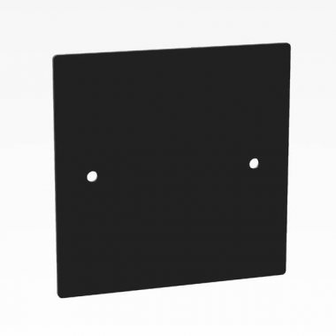 Penn Elcom D/Plate Single Black Un punched Square Corners 81511-15