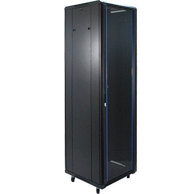 Penn Elcom 42U 19 Inch Server Rack Enclosure 1000mm/3ft3 Deep Glass Door EMS-61042BK