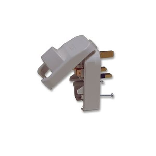 Powerconnections Mains UK Plug White Converter 13A for 3 Pin Schuko with Earth SCP3-WH-R-13A