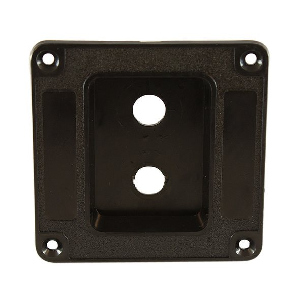 Penn Elcom Recess Dish Punched for 2 x Jack Sockets Plastic M1500