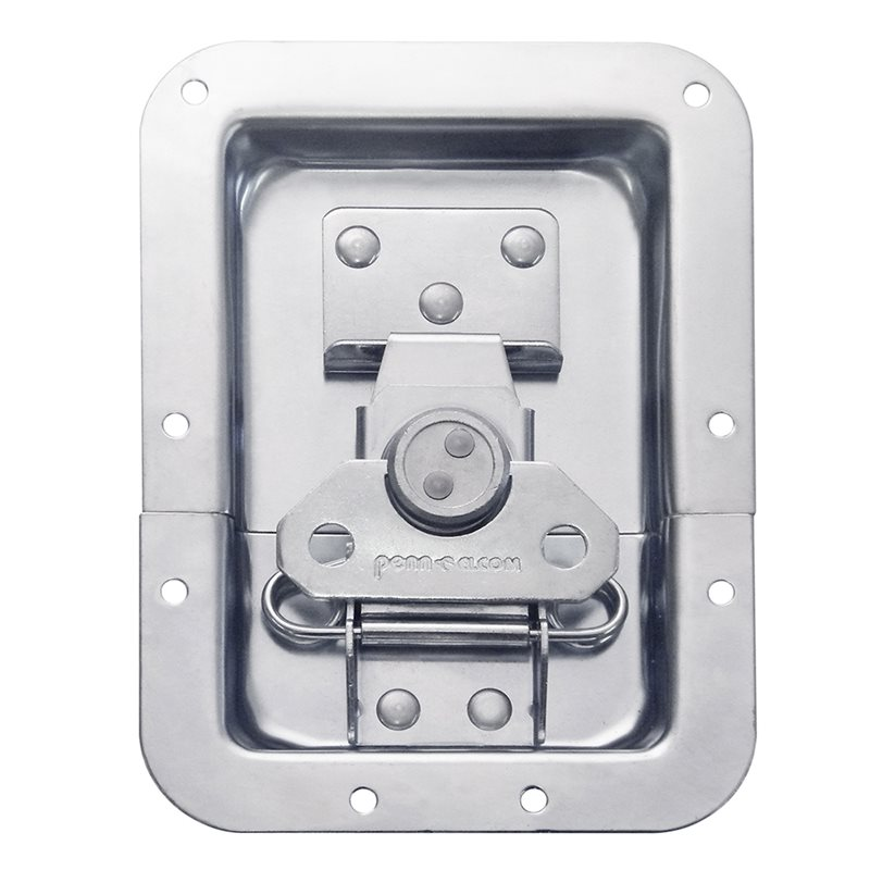 "Penn Elcom Reversed Large Recessed Butterfly Latch in Deep Plain Dish. From Split to Hole Centre: 19mm / 3/4"" L925/524Z"