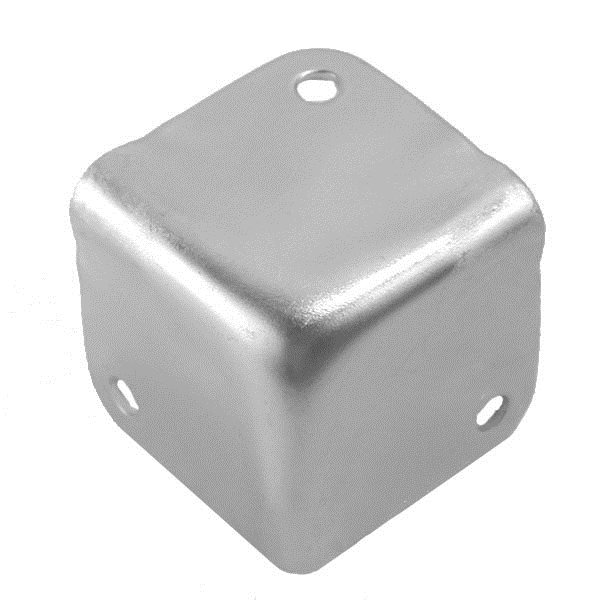 Penn Elcom Small Flat Corner Stackable Zinc 1064
