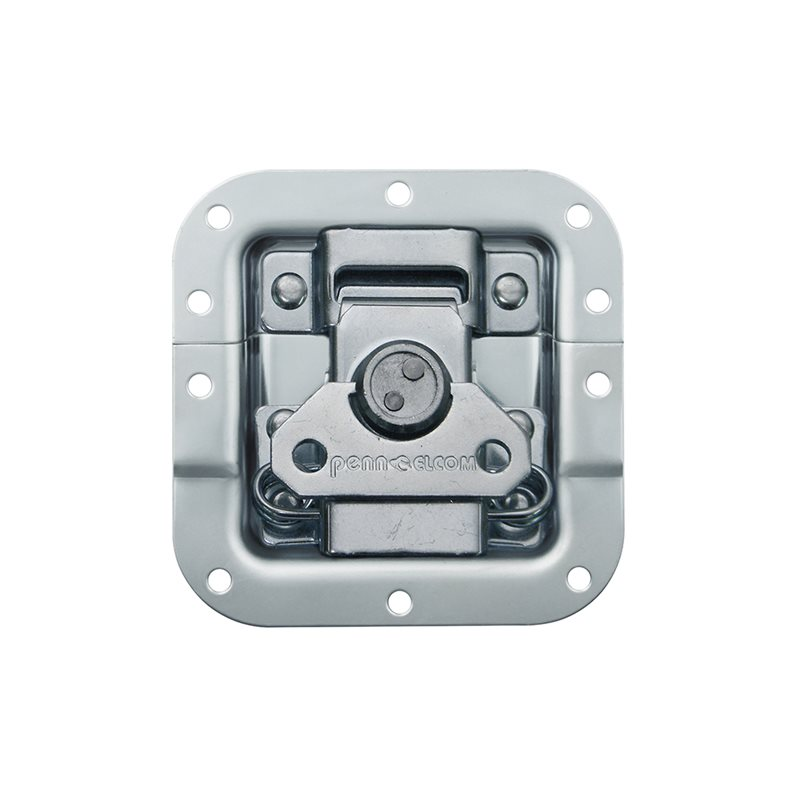 "Penn Elcom Medium MOL™ Recessed Butterfly Latch in Deep Dish with 27mm / 1 1/16"" Offset on Bottom Half L9075/928"