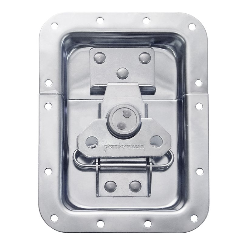 "Penn Elcom Large Recessed Butterfly Latch in Deep Plain Dish. From Split to Hole Centre: 10mm / 3/8"" L925/530Z"