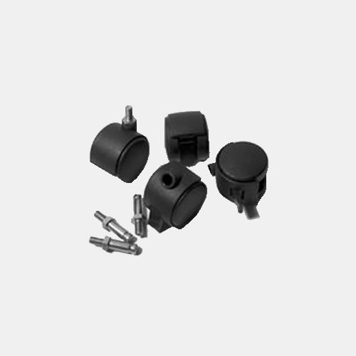 Penn Elcom 4 Pcs Light Weight Plastic Castor Set for R8400 R8480