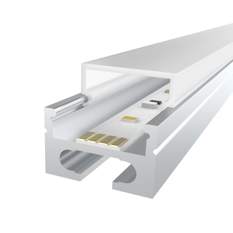 Comus 1M LEDAL26 KIT for 16.9mm Ceiling Aluminium Profile with Rectangular Cover LEDAL26