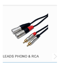 Leads Phono and RCA